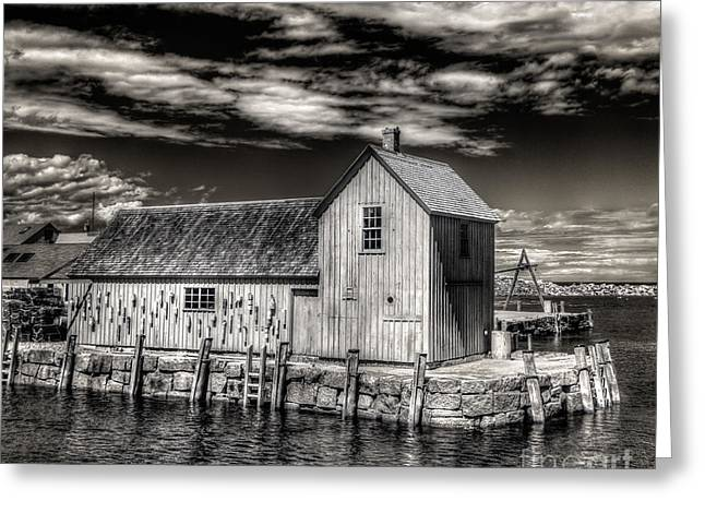 Greeting Card featuring the photograph Rockport Harbor by Steve Zimic