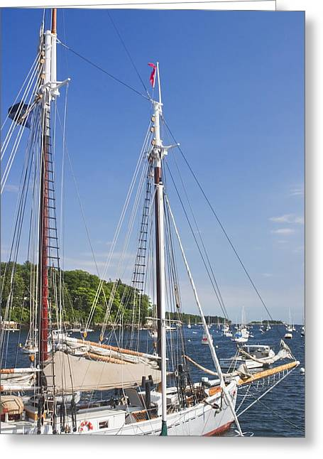 Rockport Maine Boats And Harbor Greeting Card