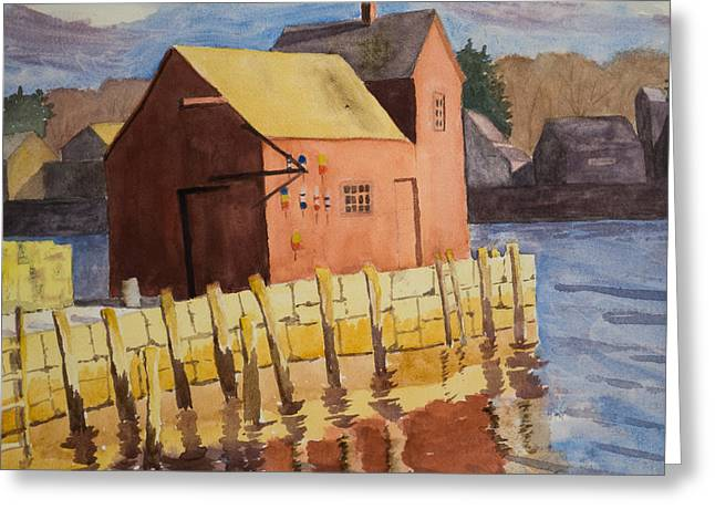 Rockport Motif Number One Greeting Card by Peggy Poppe