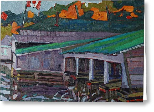 Rockport Roofs Greeting Card by Phil Chadwick