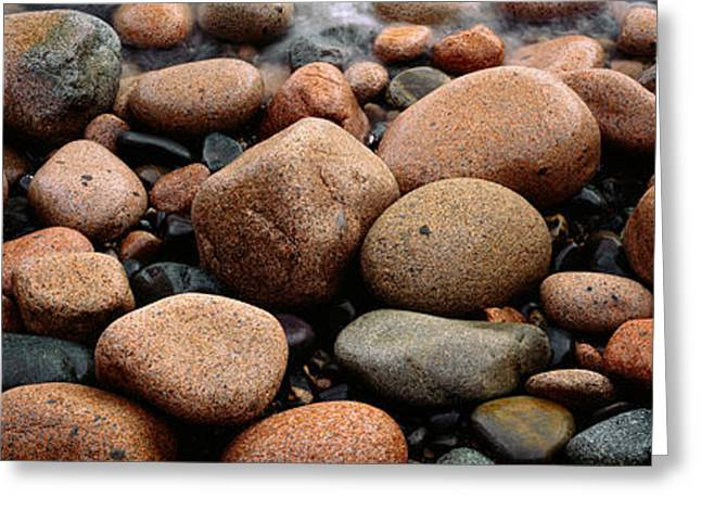Rocks Acadia National Park Me Usa Greeting Card by Panoramic Images