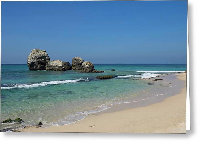 Rocks Along Beach, A2 Road, North Greeting Card by Panoramic Images