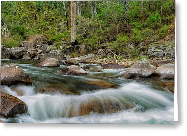 Rocks And Rapids Greeting Card by Mark Lucey