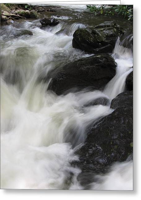 Greeting Card featuring the photograph Rocks At Bushkill by Richard Reeve
