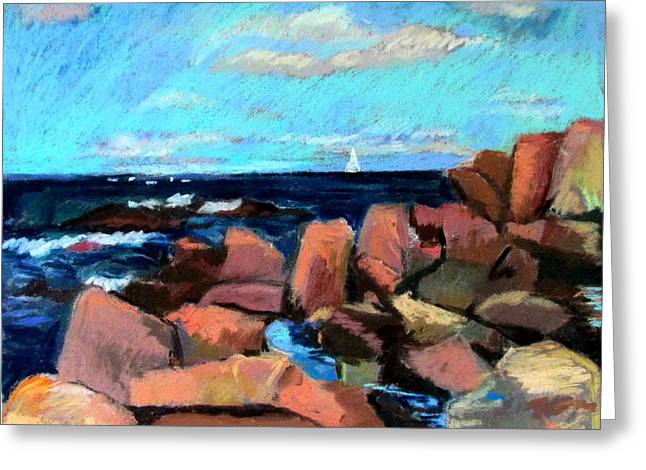 Rocks At Ogunquit Greeting Card