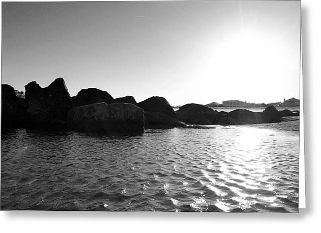 Rocks At Sunset Greeting Card by Kelly Howe