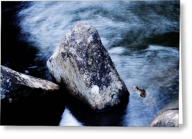 Rocks At The Falls Greeting Card by Adam LeCroy
