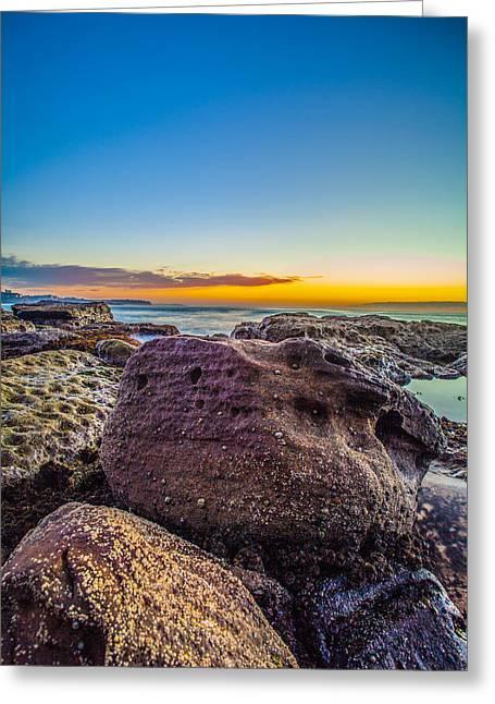 Rocks By The Sea 2 Greeting Card by Dasmin Niriella