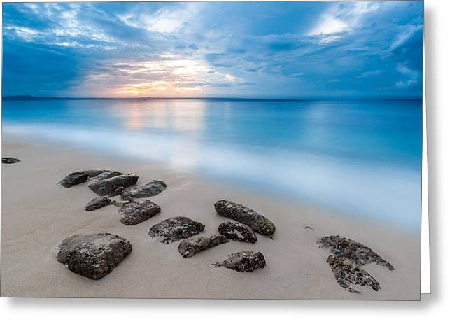 Greeting Card featuring the photograph Rocks By The Sea by Mihai Andritoiu