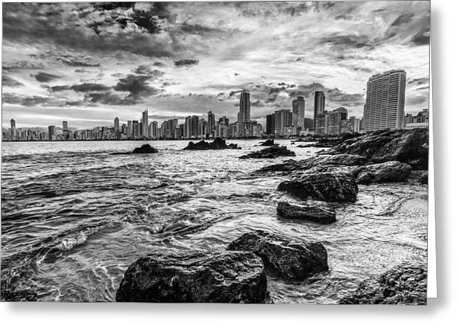 Rocks By The Sea Greeting Card by Jose Maciel