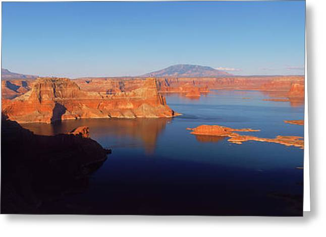 Rocks In A Lake, Lake Powell, Utah, Usa Greeting Card by Panoramic Images