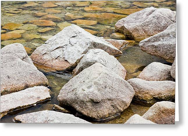 Rocks In A Lake Greeting Card by Pati Photography