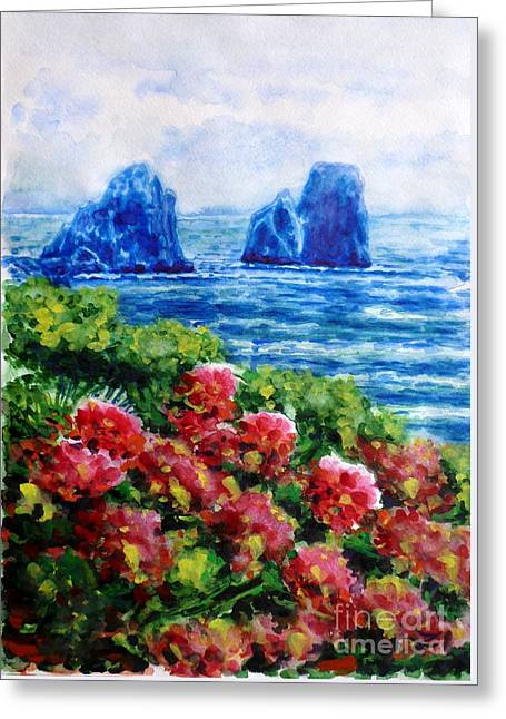 Rocks Of Capri Greeting Card