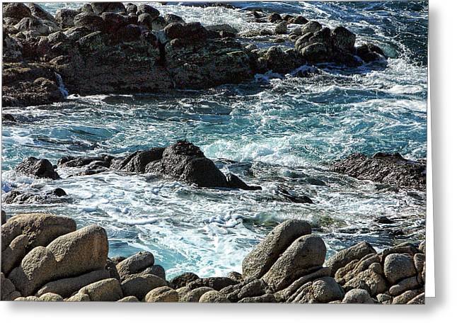Rocks Off Shore Cabo San Lucas Greeting Card by Linda Phelps