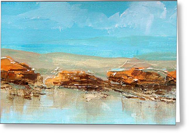 Rocks On The Beach Greeting Card by Dale  Witherow