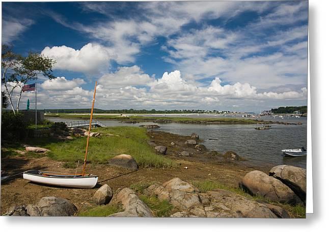 Rocks On The Coast, Annisquam Harbor Greeting Card