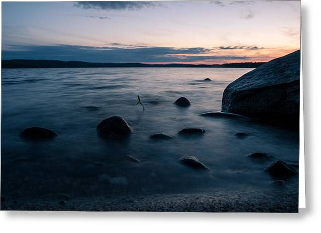 Rocks At A Shore Greeting Card by Janne Mankinen