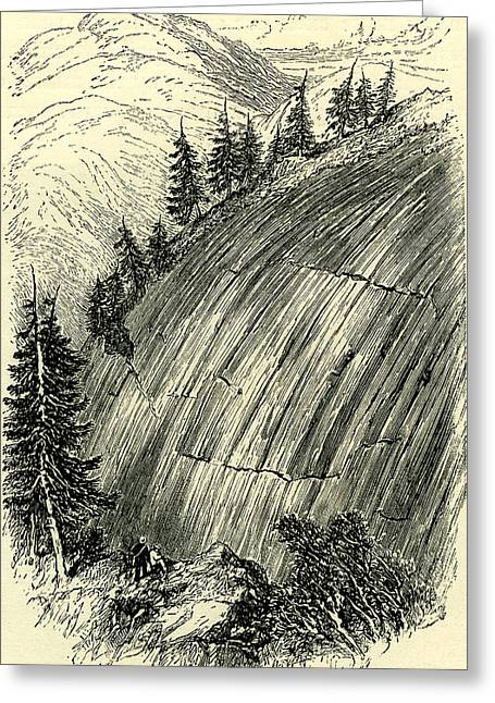Rocks Polished By Old Glaciers Switzerland Greeting Card by Swiss School