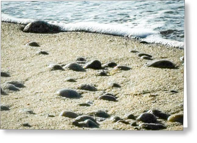 Rocks Sand And Sea Greeting Card