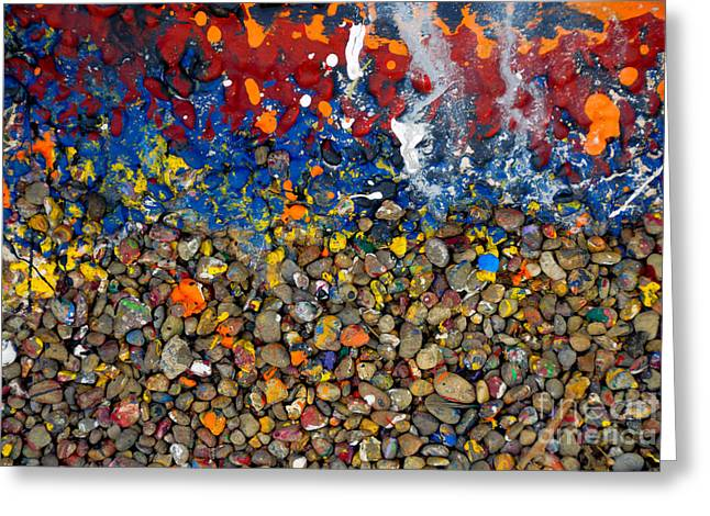 Rocks Splattered With Paint Greeting Card