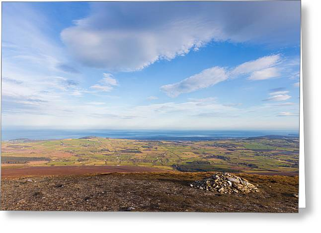 Rocks Stacked Up On Djouce Mountain Summit Greeting Card by Semmick Photo