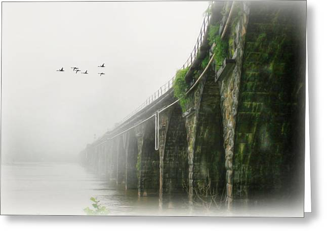 Rockville In The Fog Greeting Card by Lori Deiter