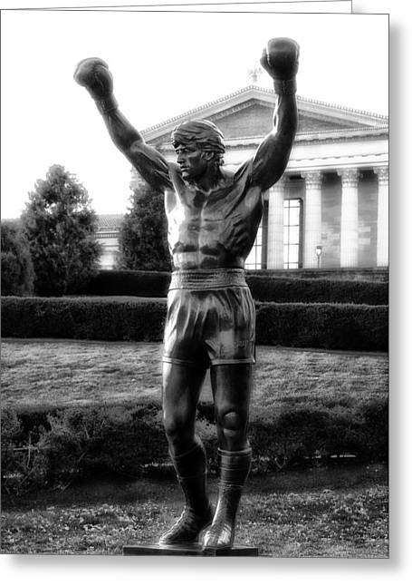 Rocky Balboa Greeting Card by Bill Cannon