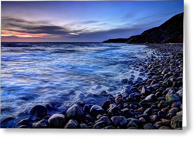 Rocky Beach Sunset Greeting Card