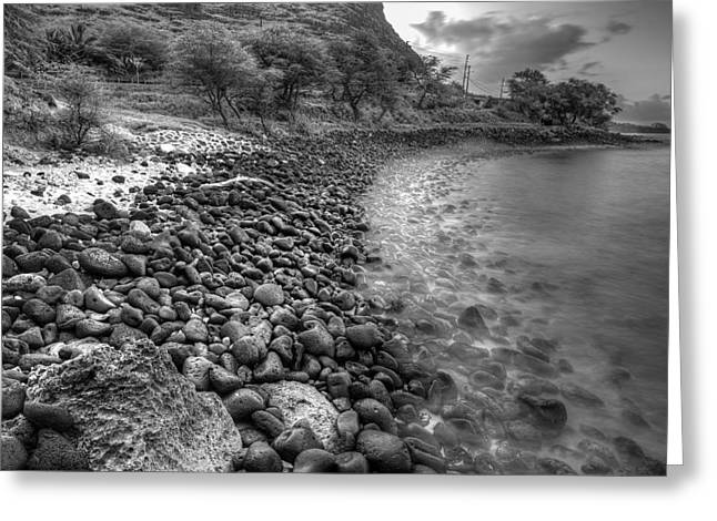 Rocky Beach Greeting Card by Tin Lung Chao