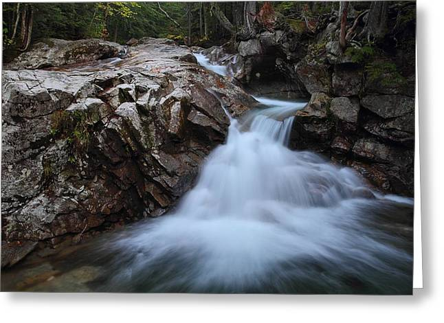 Rocky Cascade Greeting Card by Mike Farslow