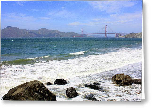 Rocky China Beach Greeting Card by Carol Groenen