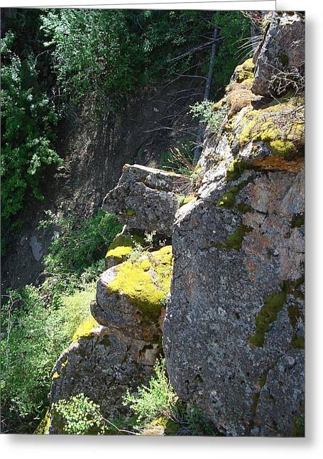 Rocky Cliff Greeting Card
