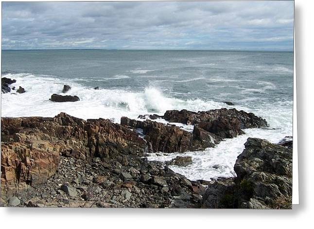Rocky Coast Greeting Card by Catherine Gagne