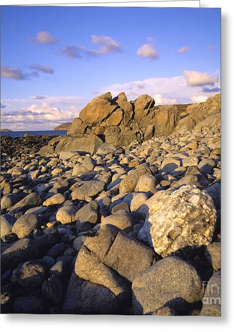 Rocky Coast. Normandy. France. Europe Greeting Card