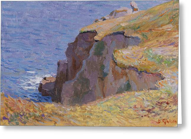 Rocky Coast S Cornwall Greeting Card by Ben Rikken