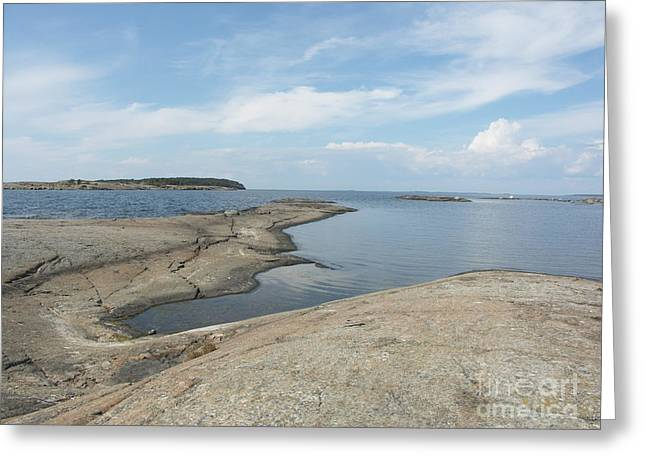Rocky Coastline In Hamina Greeting Card