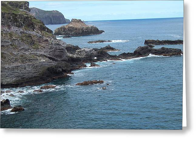 Greeting Card featuring the photograph Rocky Coastline by Sheila Byers