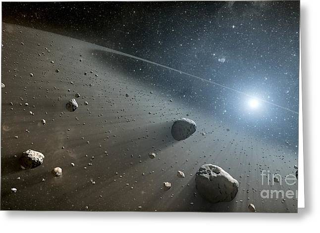 Rocky Debris Around Vega, Artwork Greeting Card