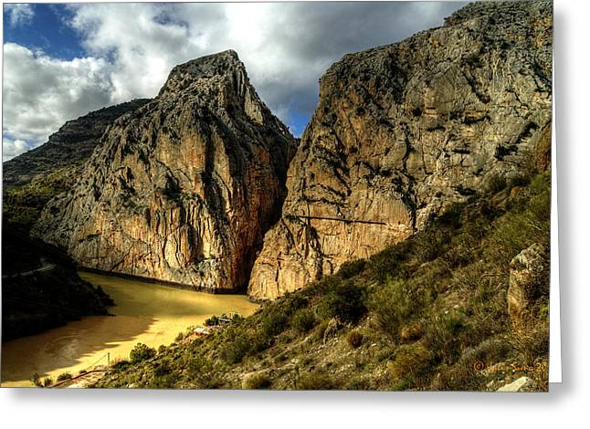 Greeting Card featuring the photograph Rocky El Chorro In Andalusia by Julis Simo