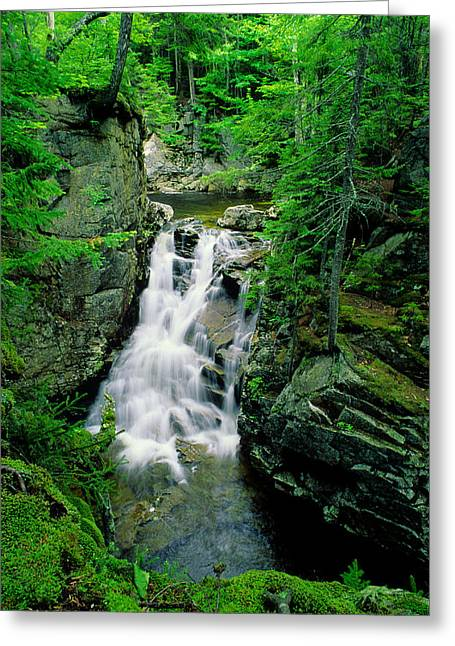Rocky Glen Falls Greeting Card