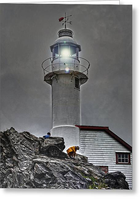 Rocky Harbour Lighthouse Greeting Card
