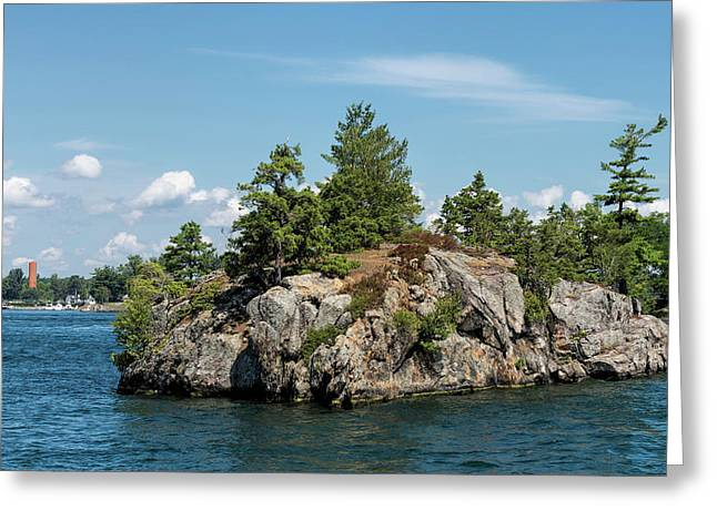 Rocky Island On Saint Lawrence River Greeting Card