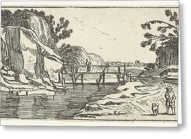 Rocky Landscape With Riverwalk, Esaias Van De Velde Greeting Card by Artokoloro