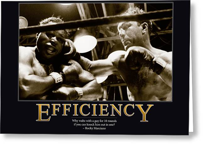 Rocky Marciano Efficiency  Greeting Card by Retro Images Archive