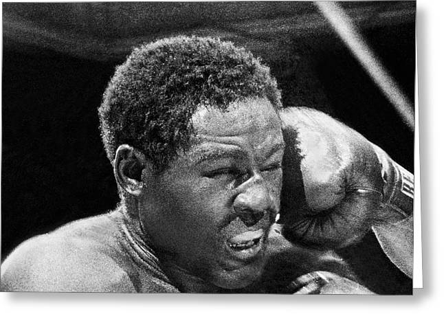 Rocky Marciano Fist Greeting Card by Underwood Archives