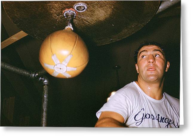 Rocky Marciano  Greeting Card by Retro Images Archive