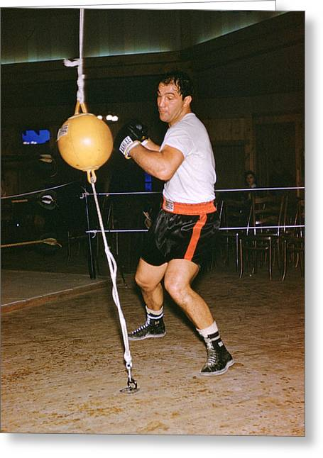 Rocky Marciano Training Greeting Card by Retro Images Archive