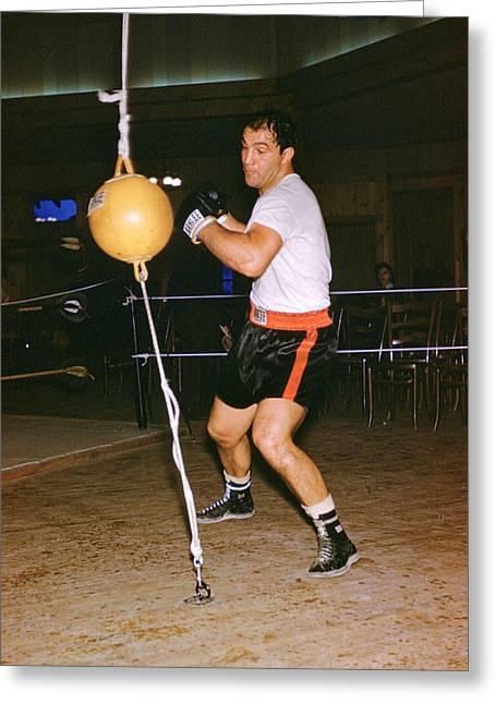 Rocky Marciano Training Greeting Card