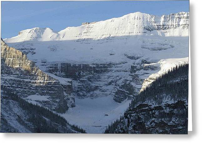 Rocky Mountain Blue Greeting Card by Cheryl Miller