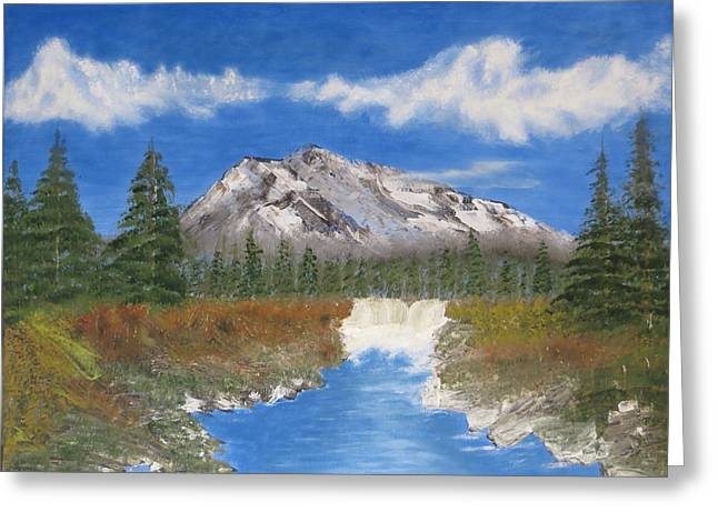 Rocky Mountain Creek Greeting Card by Tim Townsend